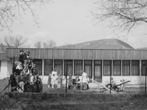 Óvodánk udvara 1985-ben